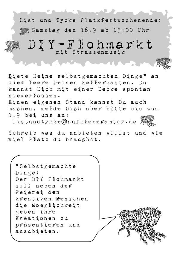 diy flohmarkt mit stra enmusik bucket boyz rauszeit. Black Bedroom Furniture Sets. Home Design Ideas